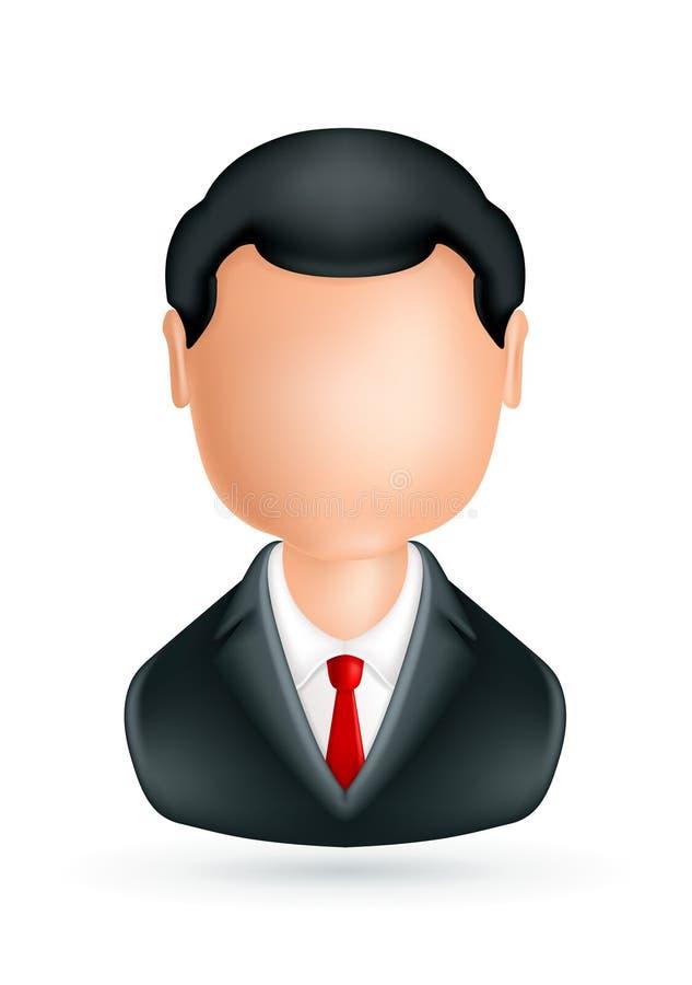 Homem de negócios, ícone ilustração royalty free