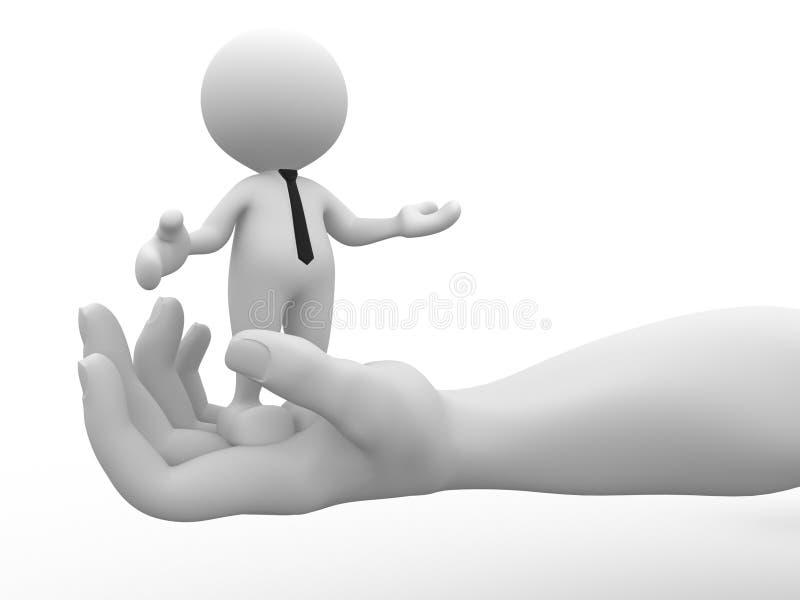 Download Homem de negócios ilustração stock. Ilustração de palma - 26505603
