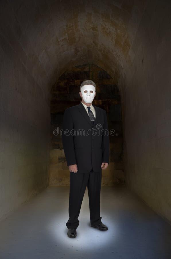 Homem de negócios abstrato do conceito sem a cara, máscara,  imagens de stock