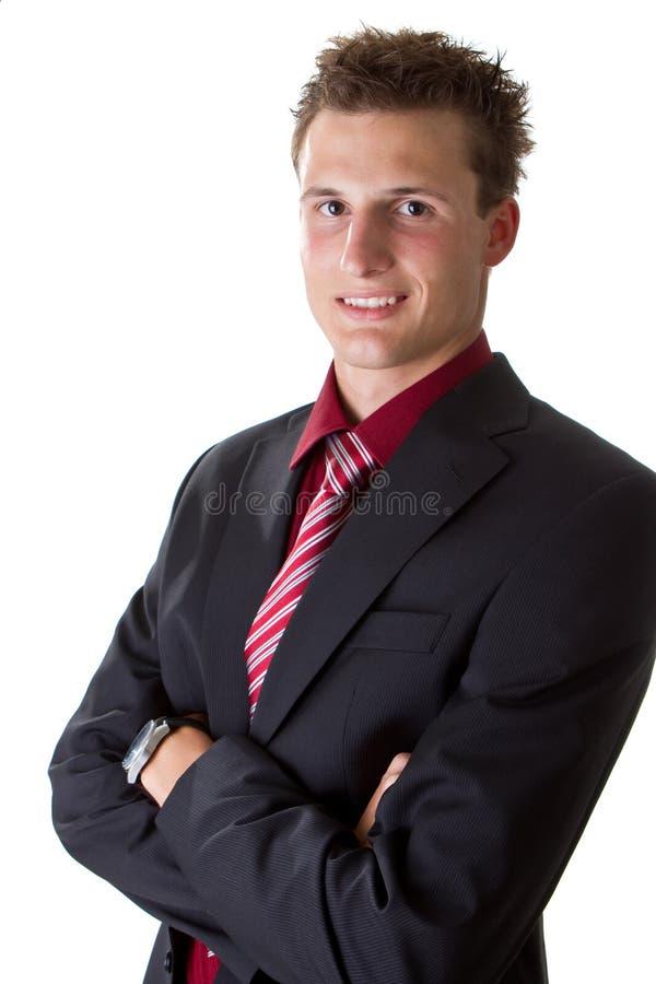 Homem de negócios adolescente na moda novo fotografia de stock royalty free