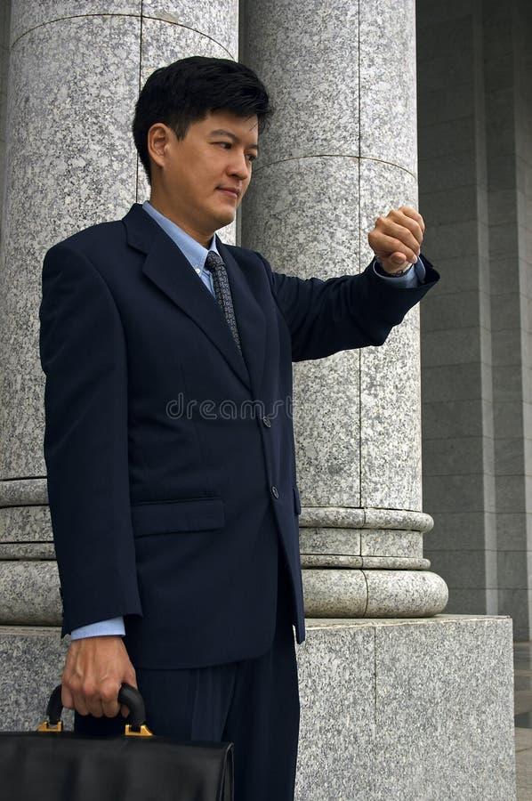 Homem de negócios/advogado com uma nomeação fotos de stock