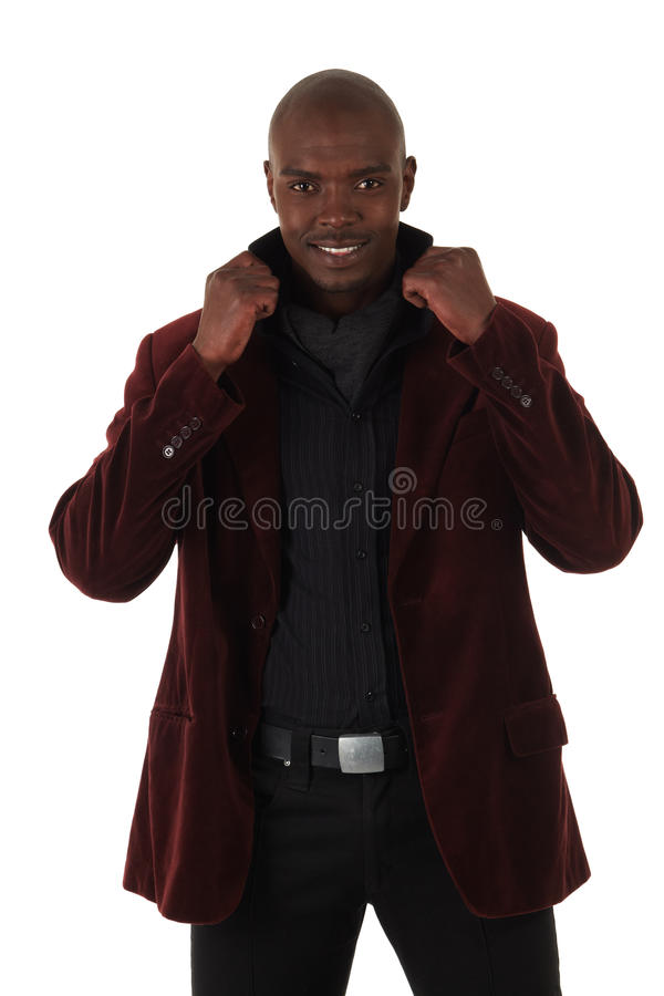 Homem de negócios africano novo fotos de stock