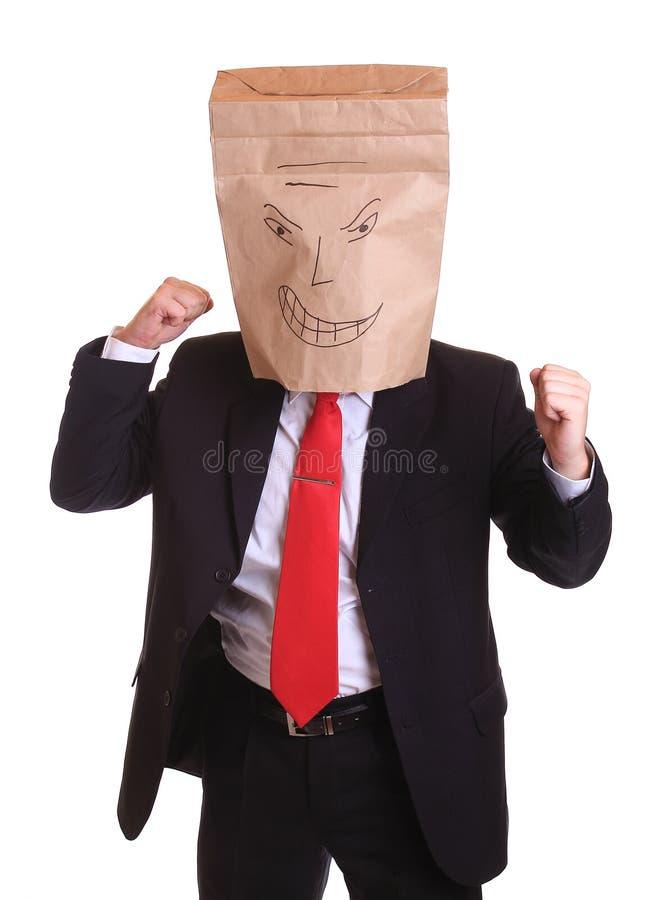 Homem de negócios agressivo fotografia de stock royalty free