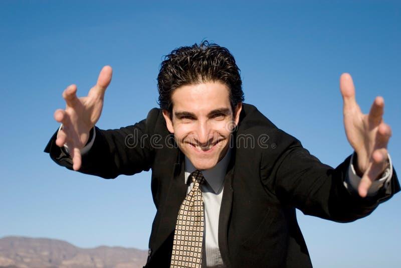 Homem de negócios agressivo fotos de stock royalty free