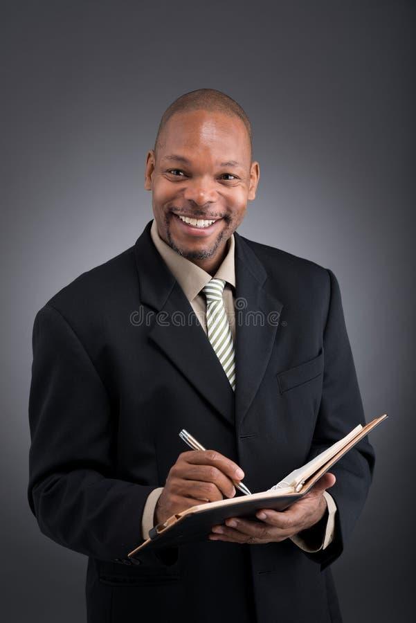 Homem de negócios alegre foto de stock royalty free