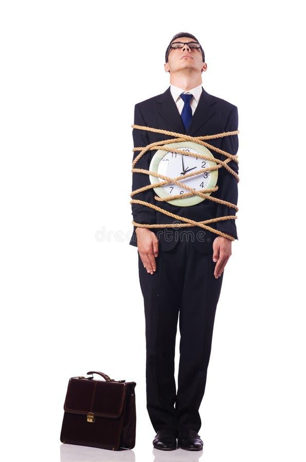 Homem De Negócios Amarrado Acima Com Corda Fotos de Stock Royalty Free