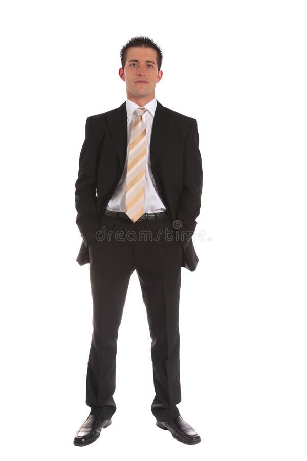 Homem de negócios ambicioso imagem de stock