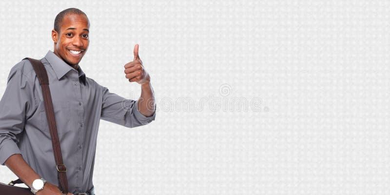 Homem de negócios americano africano feliz imagens de stock royalty free