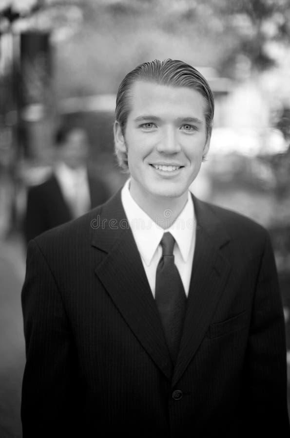 Homem de negócios amigável fotografia de stock royalty free