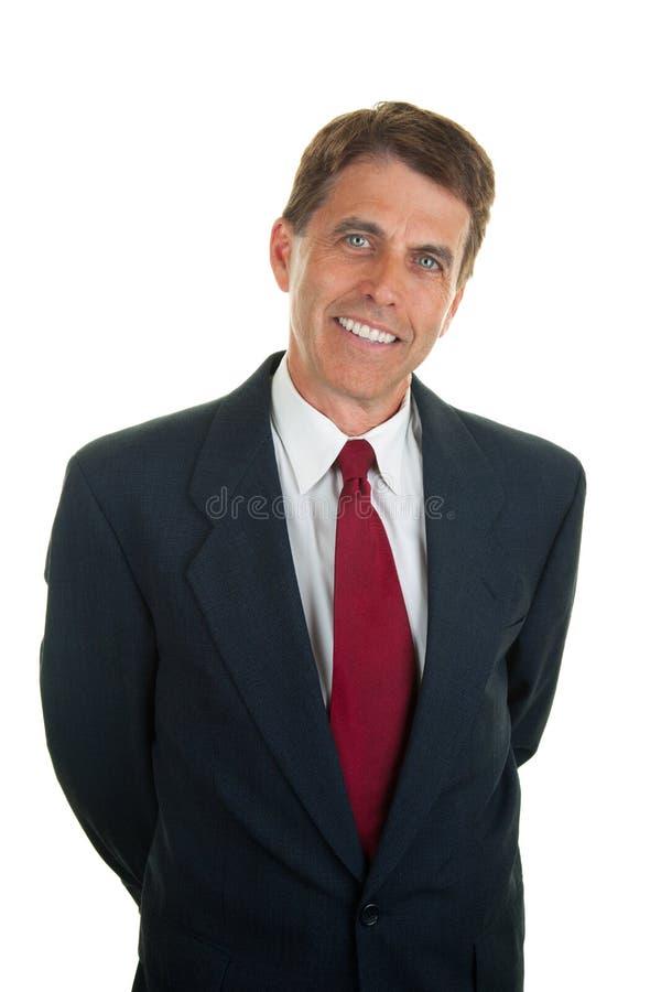 Homem de negócios amigável Relaxed fotos de stock royalty free