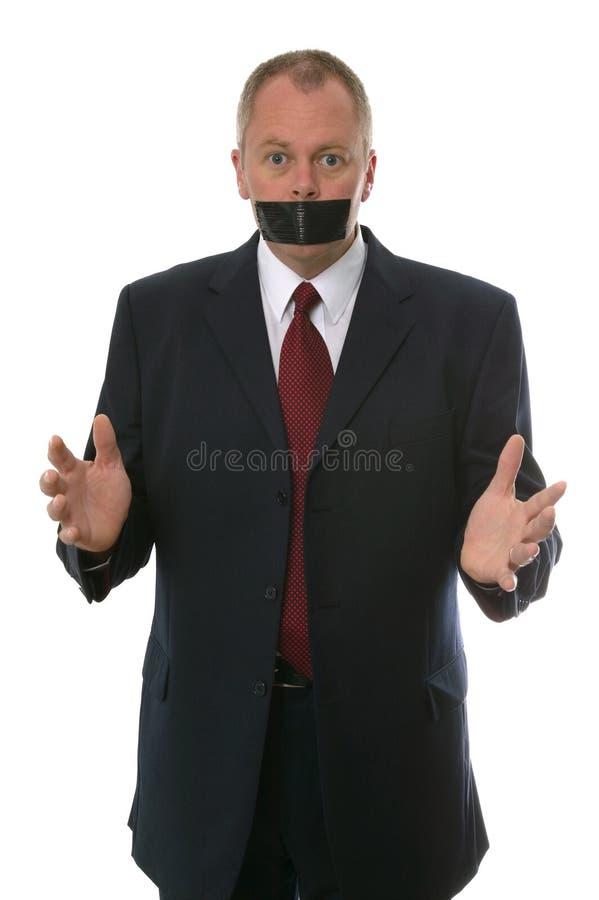Homem de negócios amordaçado foto de stock royalty free