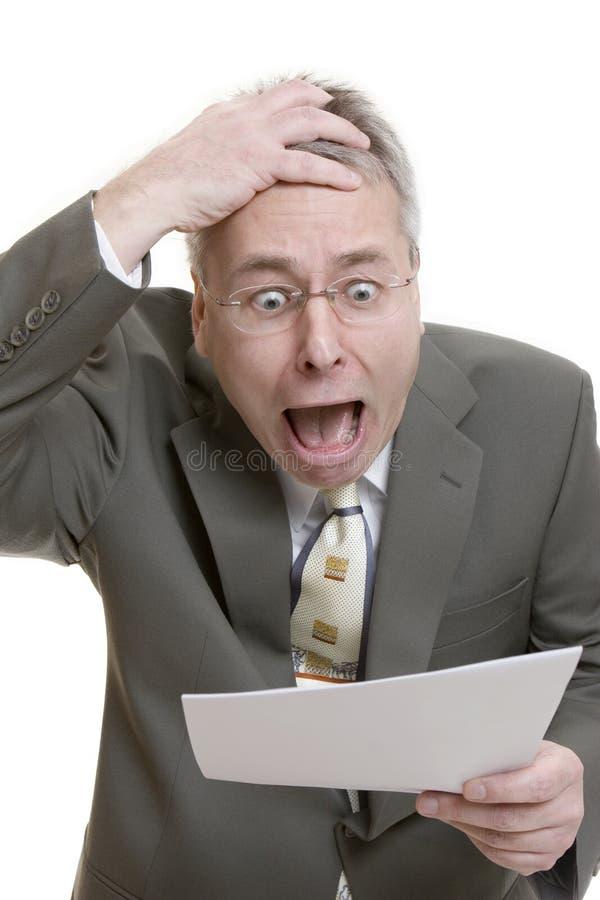 Homem de negócios ansioso imagem de stock royalty free