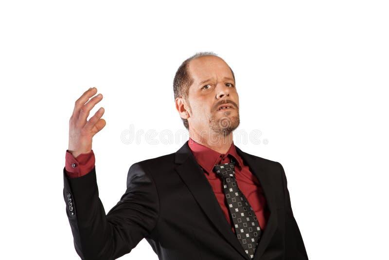 Homem de negócios arrogante fotografia de stock royalty free