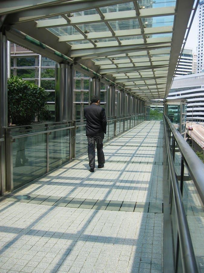 Homem de negócios asiático 2 de passeio fotos de stock royalty free