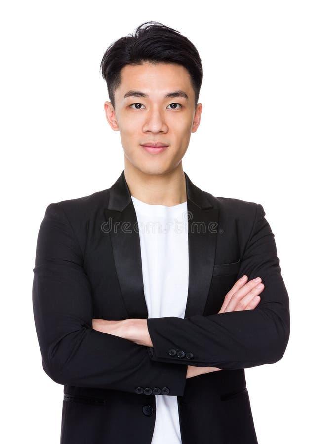 Homem de negócios asiático fotografia de stock royalty free