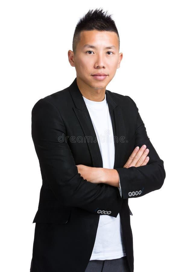 Homem de negócios asiático imagens de stock