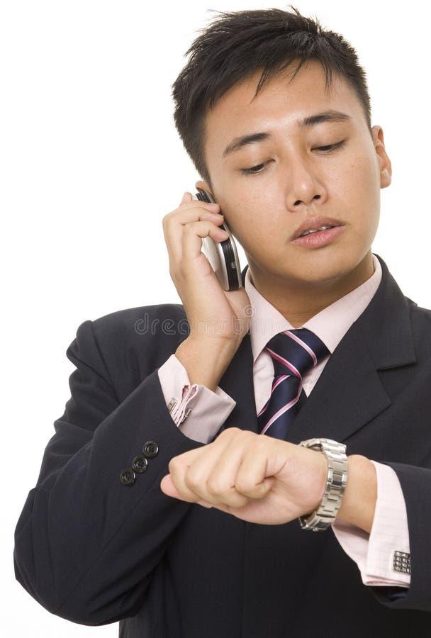 Homem de negócios asiático 6 imagem de stock