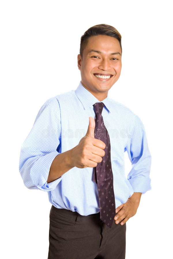 Homem de negócios asiático novo imagem de stock royalty free