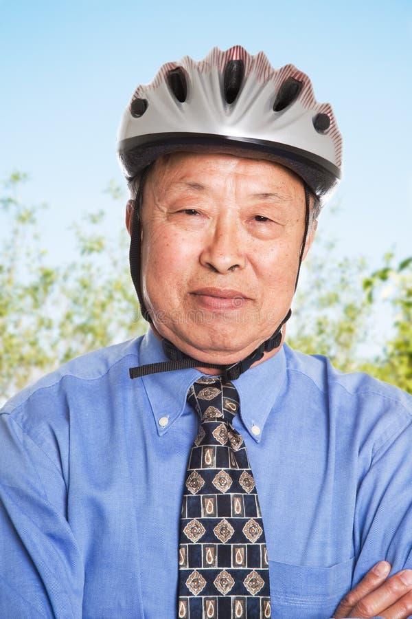 Homem de negócios asiático sênior imagens de stock royalty free