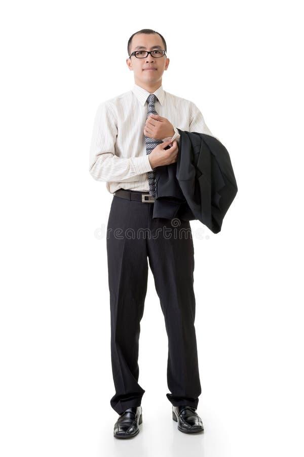 Homem de negócios asiático seguro foto de stock royalty free