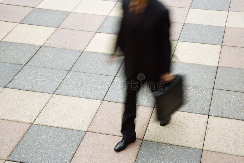 Homem de negócios atrasado. fotografia de stock