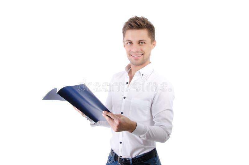 Homem de negócios atrativo novo Negócio e sucesso imagem de stock