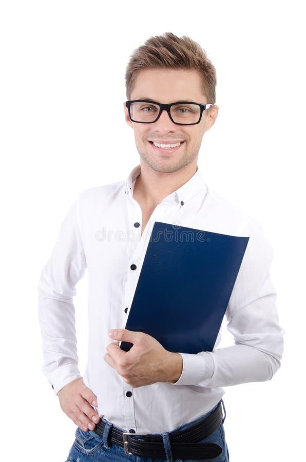 Homem de negócios atrativo novo Negócio e sucesso fotografia de stock