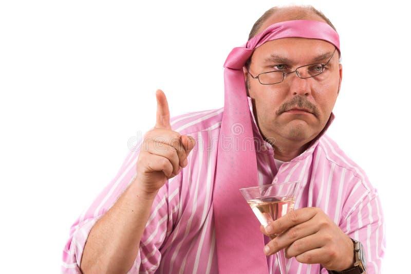 Homem de negócios bêbedo imagem de stock royalty free