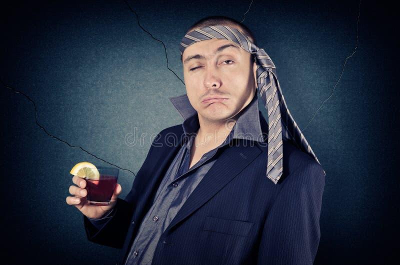 Homem de negócios bêbedo foto de stock