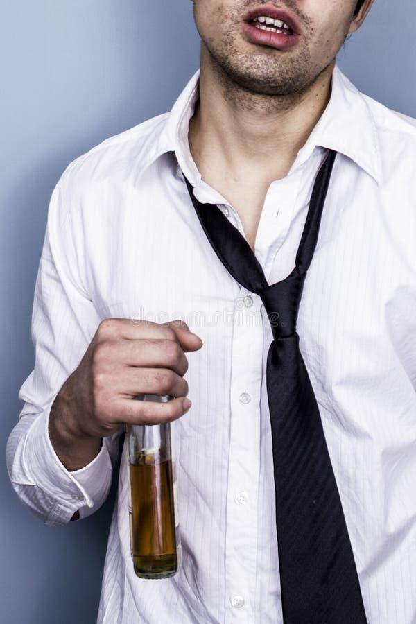Homem de negócios bêbedo e desarrumado foto de stock royalty free