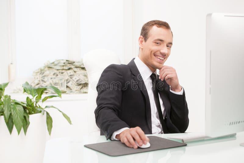 Homem de negócios bem sucedido. fotografia de stock