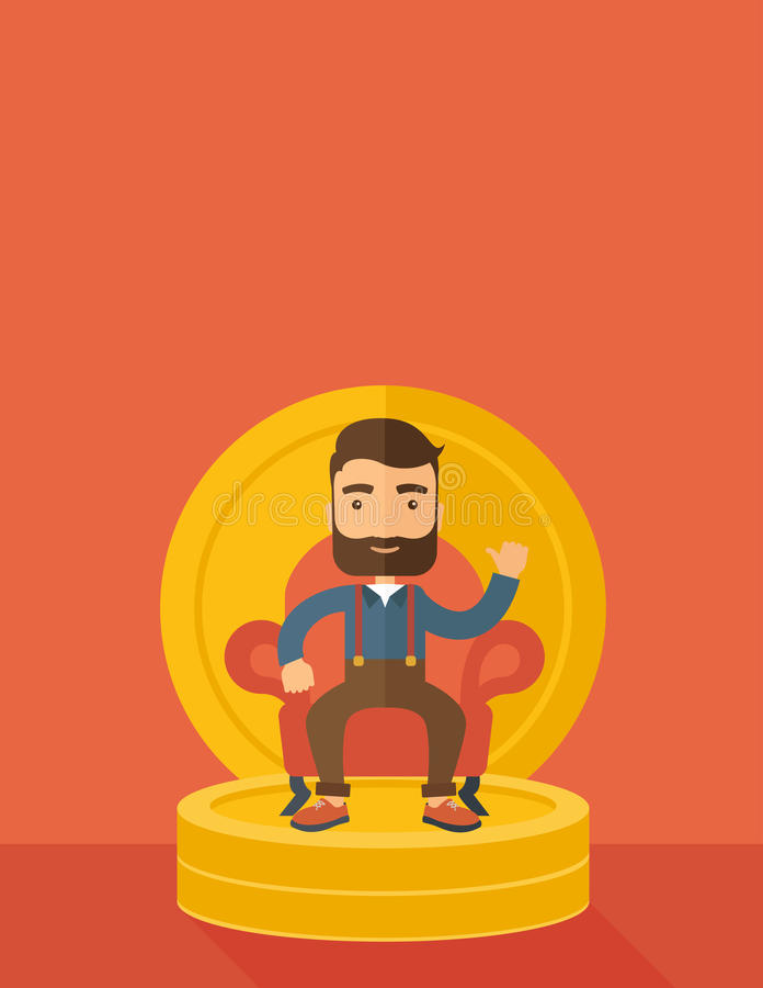 Homem de negócios bem sucedido ilustração stock