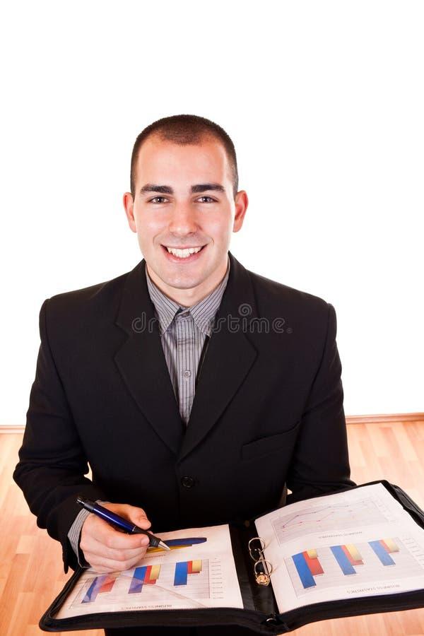 Homem de negócios bem sucedido novo fotos de stock