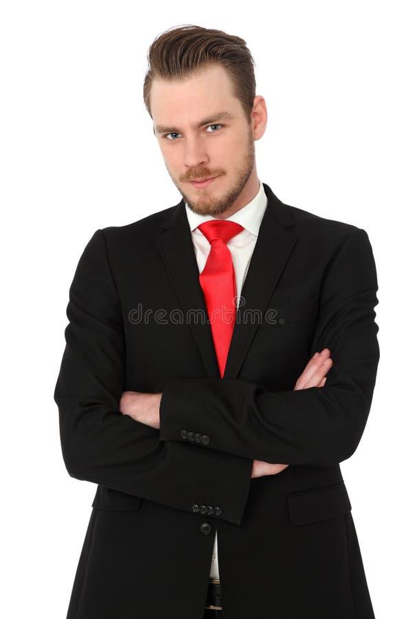 Homem de negócios bonito no terno imagens de stock royalty free