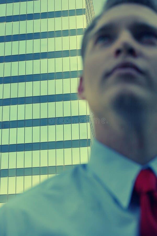 Homem de negócios borrado foto de stock