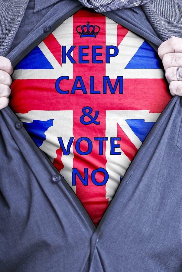 Homem de negócios britânico Votes No fotografia de stock royalty free