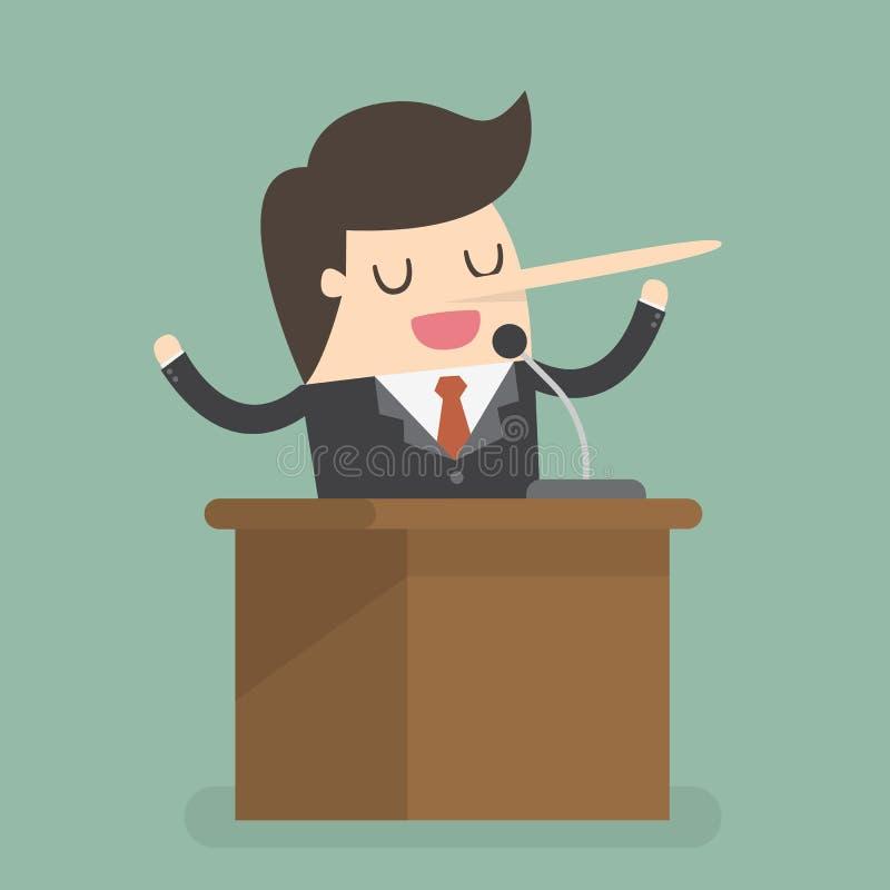 Homem de negócios Business Concept Illustration do mentiroso ilustração stock