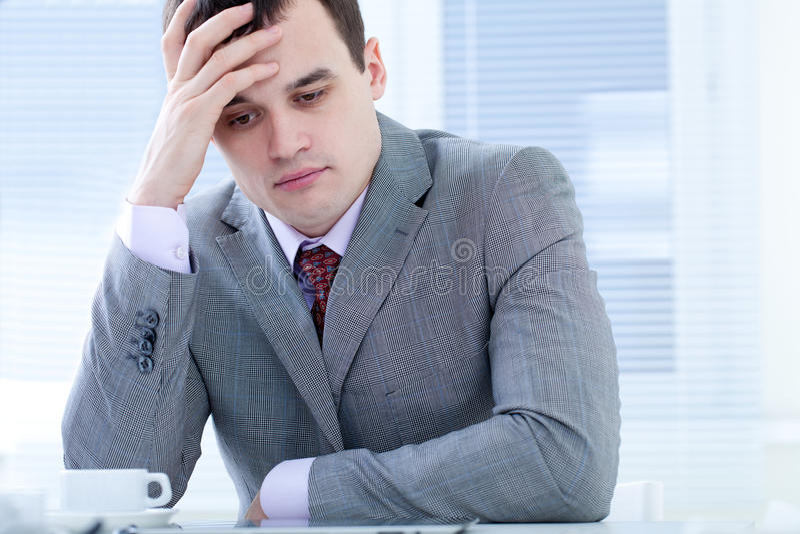 Homem de negócios cansado fotos de stock royalty free