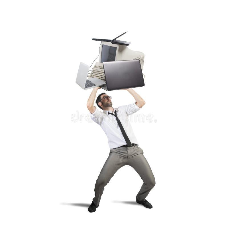 Homem de negócios cansado de trabalho fotos de stock