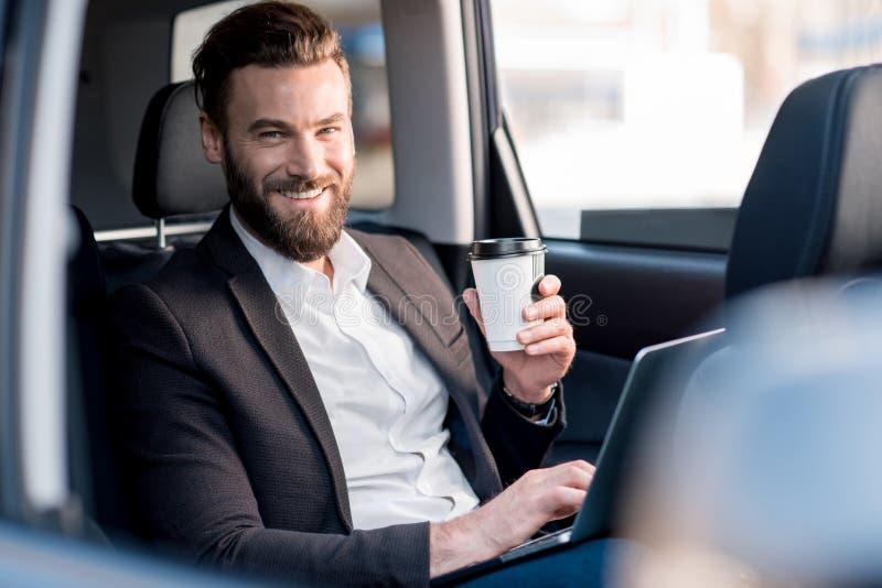 Homem de negócios In The Car foto de stock royalty free