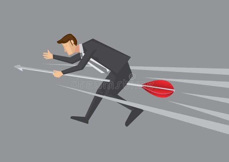Homem de negócios Careers na ilustração do vetor do dardo ilustração royalty free