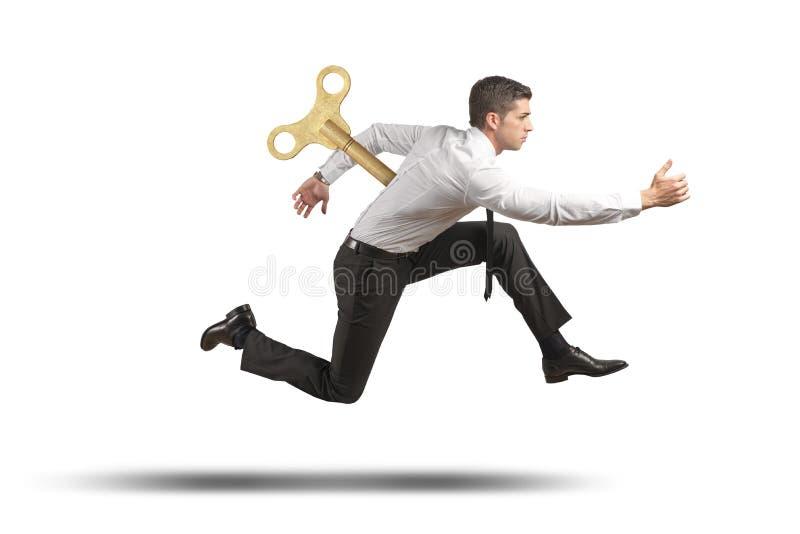 Homem de negócios carregado imagem de stock royalty free