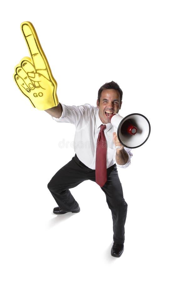 Homem de negócios Cheering fotos de stock