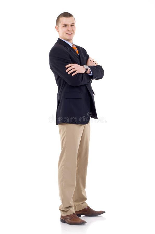 Homem de negócios cheio do comprimento foto de stock