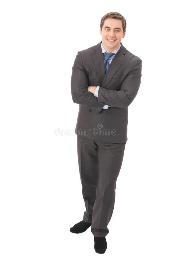 Homem de negócios cheio do corpo imagens de stock