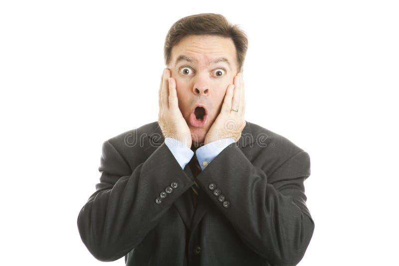 Homem de negócios choc imagem de stock