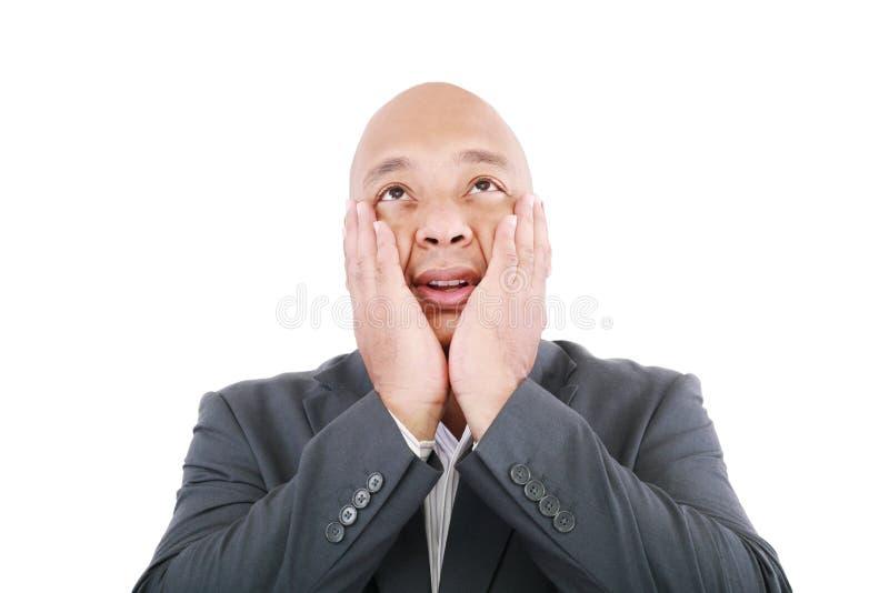 Homem de negócios choc imagens de stock