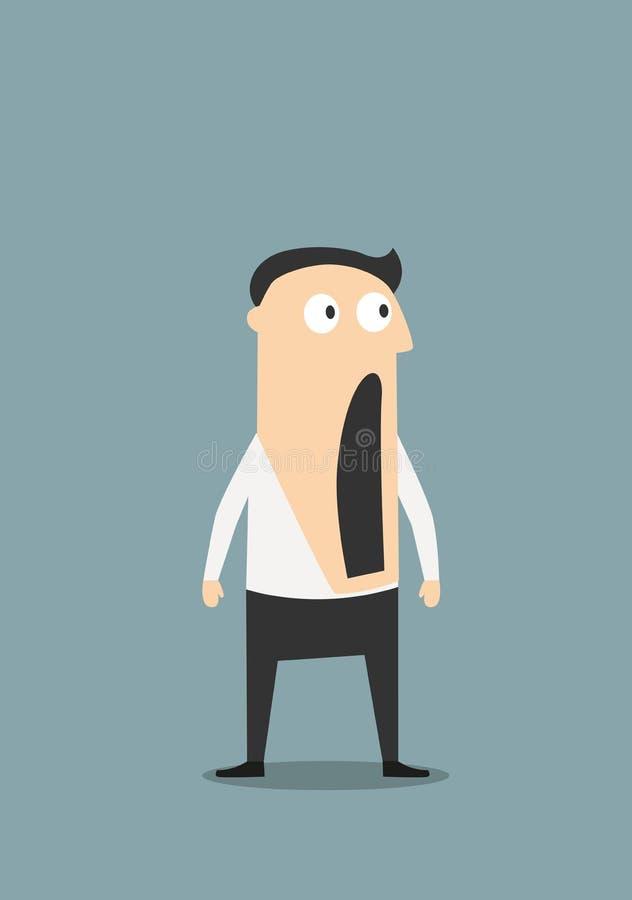 Homem de negócios chocado com boca aberta ilustração stock