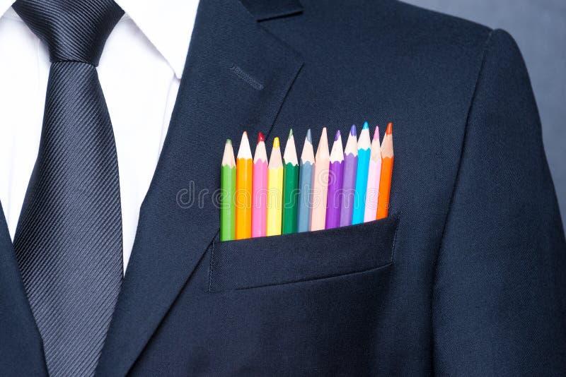 Homem de negócios colorido imagem de stock