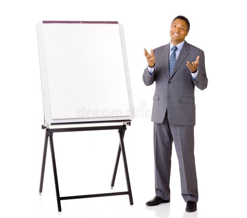Homem de negócios com armação imagem de stock